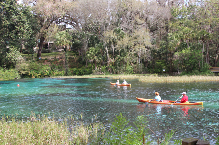 Kayaking at the Springs