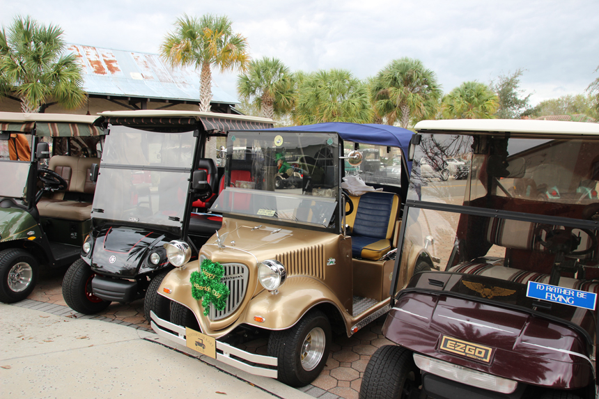 Decorated golf carts