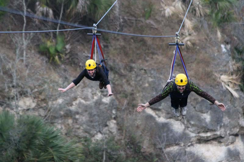Picture from the zipthecanyon.com website showing the position for the zip line.