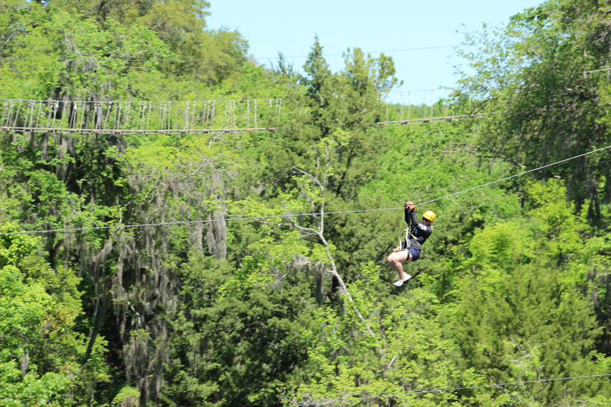 One of the zip line tours.