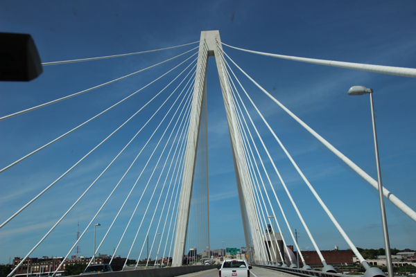Going over St. Louis bridge.