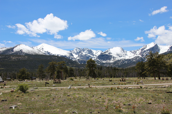 View of campsite at RMNP