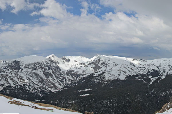 View of the mountains from about 12,000 feet