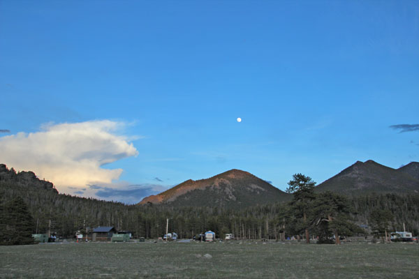 Moon over the campground
