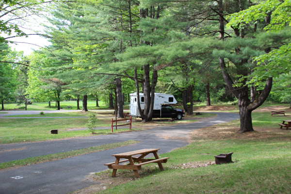 Campsite at October Mountain State Forest, Massachusetts